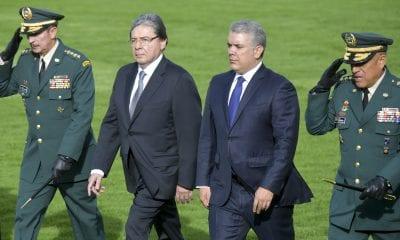 Presidente Duque y ministro de Defensa Carlos Holmes Trujillo