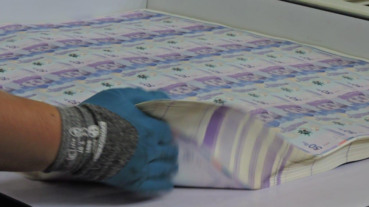 Producción de billetes / Foto: Banco de la República