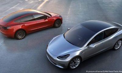 El Model 3 de Tesla, el auto eléctrico más vendido en Alemania en 2019.