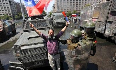 Manifestaciones en Chile / Foto: EFE