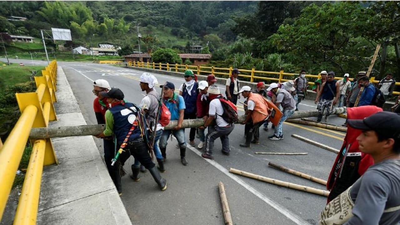 Indígenas vía Panamericana