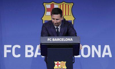 Messi se despide del Barcelona